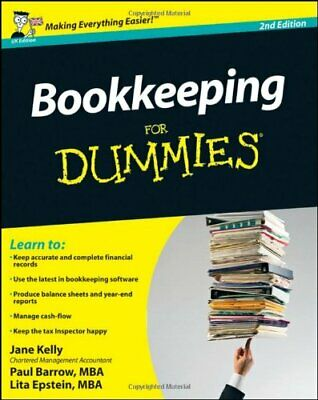 Bookkeeping for Dummies by Barrow, Paul Paperback Book The Cheap Fast Free Post