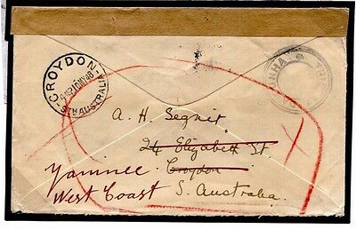 DBW572 1948 AUSTRALIA Yaminee via SOUTH AFRICA Paquebot/TRISTAN DA CUNHA Return