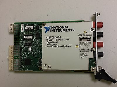 National Instruments NI PXI-4072   6½-Digit PXI Digital Multimeter (DMM) and LCR