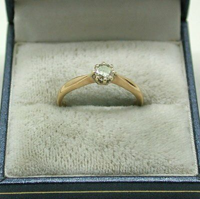 Vintage 18ct Gold 0.33ct Diamond Solitaire Ring