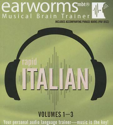 Rapid Italian, Vols. 1-3 by Earworms Learning (English) Compact Disc Book Free S