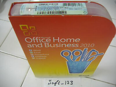 Microsoft Office 2010 Home & Business For 2 PCs Outlook/Excel/Word/PowerPoint
