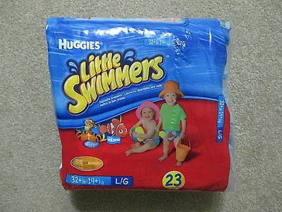 23 Unisex Huggies Little Swimmers Disposal Swimpants Diapers Large For 32 Lbs +