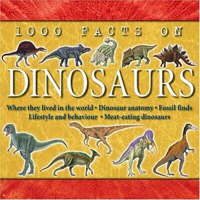 1000 Facts on Dinosaurs by Flegg, Jim Hardback Book The Cheap Fast Free Post