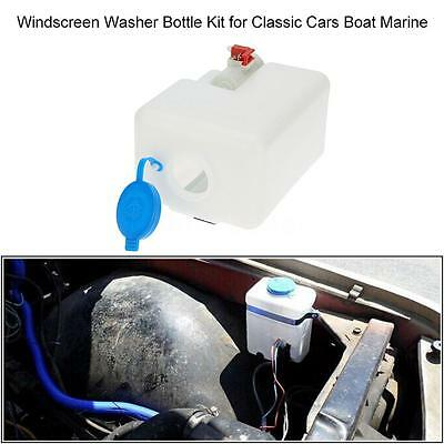 Universal Classic Car Boat Windscreen Washer Pump Bottle Kit Cleaning Tools J2R0
