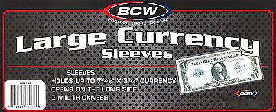 50 Large Dollar Bill Currency Sleeves Holders Money Protectors Blanket Size