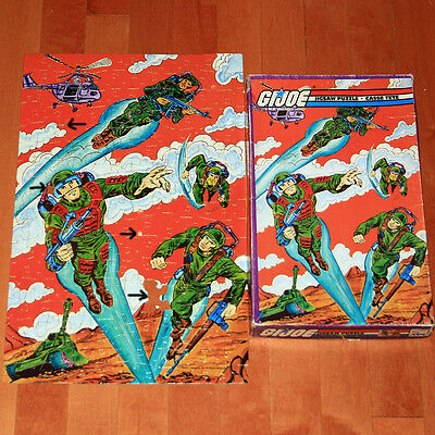 Vintage 1982 Hasbro G.I. Joe jigsaw puzzle, almost complete only missing 1 piece