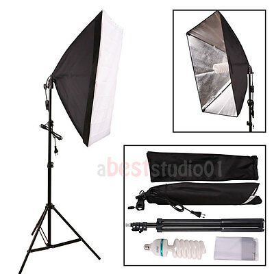 Photography Studio 135W Soft Box Continuous Lighting Softbox Light Stand Kit USA