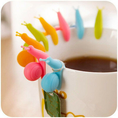 10pcs Snail Shape Silicone Tea Infuser Bag Holder Cup Mug Candy Colors Gift Set