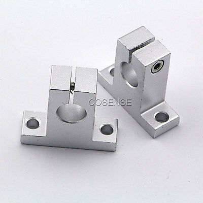 2x SK20 Size 20mm CNC Linear Rail Shaft Guide Support New