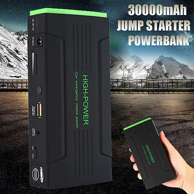 30000mAh Vehicle Car Jump Starter Booster USB Battery Power Bank Charger 12V AU