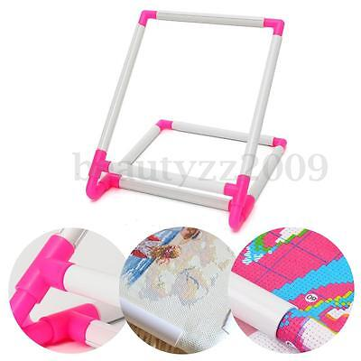 Plastic Embroidery Holder Hoops Tapestry Frames Cross Stitch Needle Craft Stand