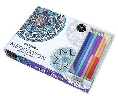 Vive Le Colour! Meditation (adult Colouring Book and Pencils) by Abrams Noterie