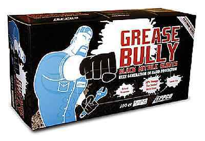 Grease Bully Black Nitrile Gloves Chemical Resistant Box 100 Superior Quality
