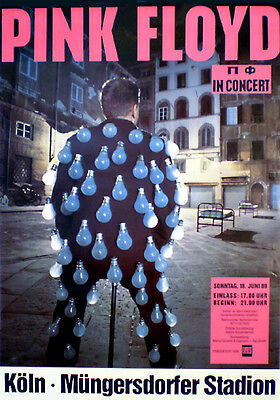 PINK FLOYD rare concert poster from 1989  rolled