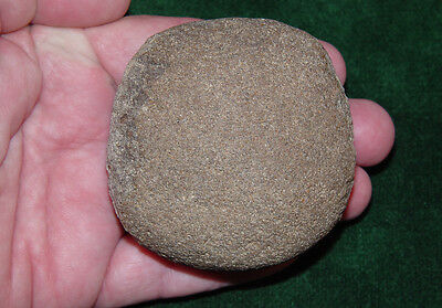 """Native American Indian Stone Discoidal 3"""" Found East TN 1960's - 70's"""