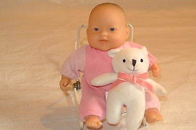 Small Berenguer Baby with a Teddy Bear