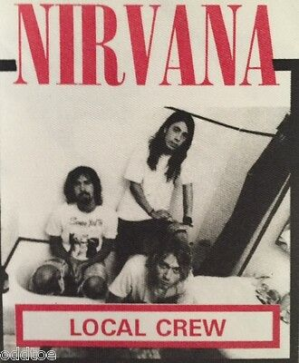 Nirvana Local Crew Concert Tour Backstage Pass - Hard To Find