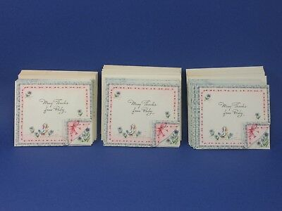"12 Baby Birth Announcements ""many Thanks From Baby"" 3"" X 3 1/12"" Rare Vintage"