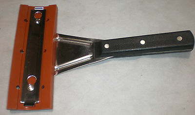 squeegee, grill, extended handle, with one wipe, stainless, commercial, 5000064