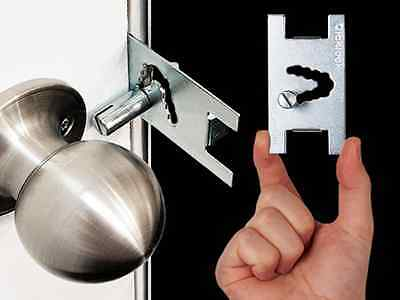 Qicklock Temporary Security Door Lock Portable Home/Travel Lockdown 2 Pack