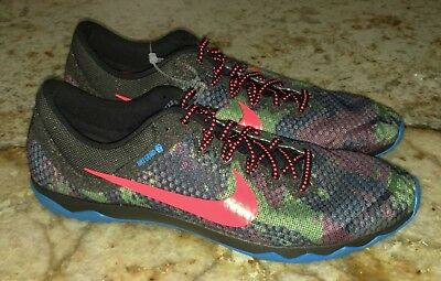 watch b78e1 c5290 NIKE Zoom Rival XC Camo Black Blue Lava Cross Country Spike Shoes NEW Mens  11.5