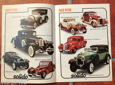 1980/81 Toy Catalogue of 1/43 scale, France / German / English, Printed in Italy