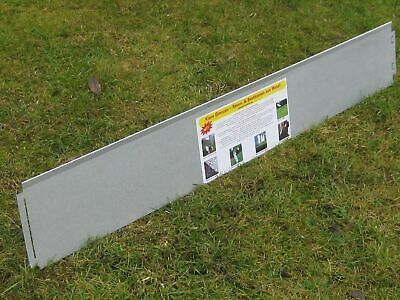 10x Lawn Edging Narrow 18 cm high with double antirust Metal