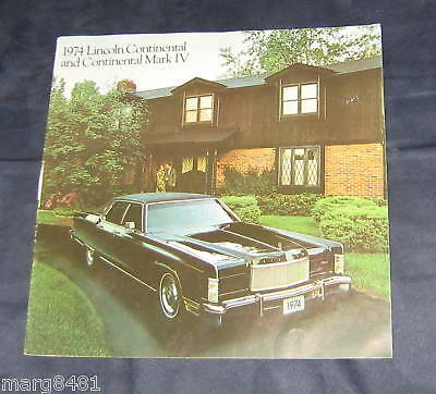 "'74 Lincoln Continental & Mark IV 18 pages 12""by 12""wide, lithographed in Canada"