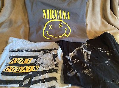 Lot Of 3 ; Kurt Cobain Nirvana Punk Rock T Shirts