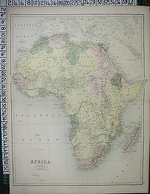 (4) FOUR LARGE ANTIQUE MAPS of AFRICA 1879 1898 1902 & 1920