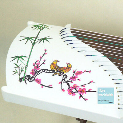 "RARE 21-String 49"" Travel-Size Paulownia Wood Guzheng Chinese Zither,Koto (Bird)"