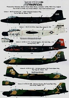 Xtradecal X72103 1/72 Martin B-57 Canberra Part 2 Model Decals