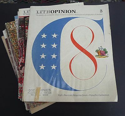 Vtg Lithopinion Magazine, Graphic Arts and Public Affairs Journal, Lot of 13