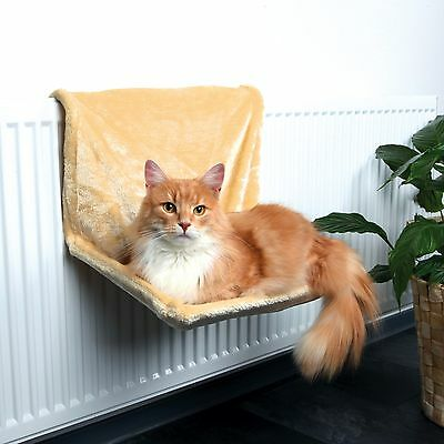 Trixie Deluxe Plush Radiator Cat Bed /  Hammock Beige 43201