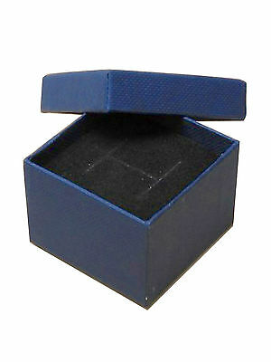 JOB LOT - 96 NAVY CARDBOARD RING BOXES WITH FOAM BACKED VELVET INSERTS £0.40each