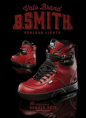 Valo BS.1 Brandon Smith Pro  Boot Only Size 8 Aggressive Skate Ox Blood Lights