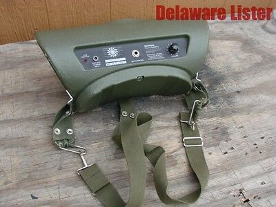 US Army Military Radio Field Audio Loudspeaker Portable Loud Speaker Model 360