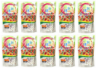 10 Pack of Wufuyuan Colour Tapioca Pearl 250g for Bubble Tea Drink Boba Milk tea