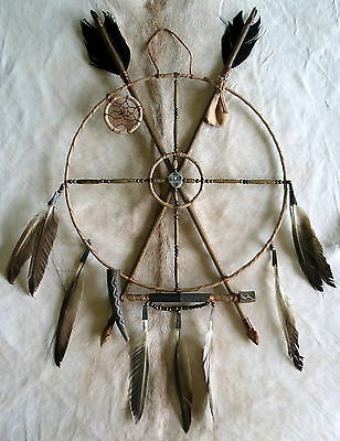 New Native American Navajo Hand-Crafted Mandala Medicine Wheel Dreamcatcher  6