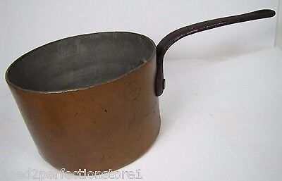 Antique Barth & Son New York Copper Pot Pan Cast Iron Handle Restaurant Ware