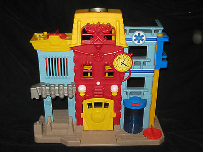 Fisher Price Imaginext Firehouse Police Jail City Playset