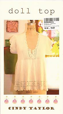 Cindy Taylor Knitting Pattern - Baby 'Doll Top' Instructions for Women XS-XL