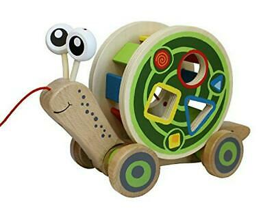 Hape Pull and Walk-A-Long Wooden Snail