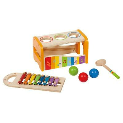 Early Melodies Pound and Tap Bench Wooden Xylophone - Hape