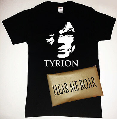 Game of Thrones Tyrion T-Shirt with Hear Me Roar Packaging Lannister