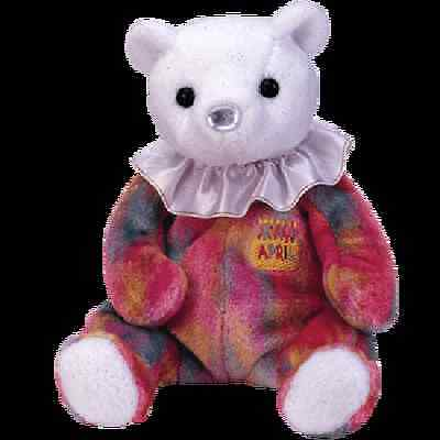 "Ty Beanie Baby Happy Birthday ""april"" The Bear. Mwmt"