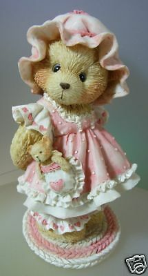"Cherished Teddies ""holding On To Someone Special"" Rare! 916285 Mint In Box"