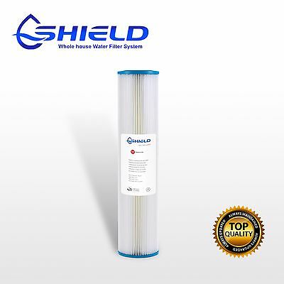 "5 Micron Pleated Sediment Filter  Washable 20"" x 4.5"" Big Blue Cartridges"