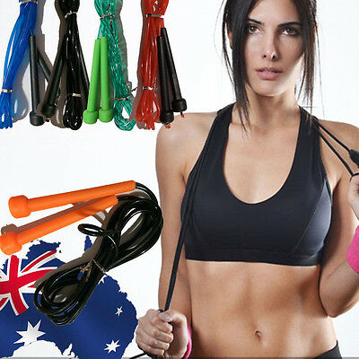 Skipping Jump Rope Ropes Fitness Exercise Sport Gym Jumping PVC Cardio SJUMP 38